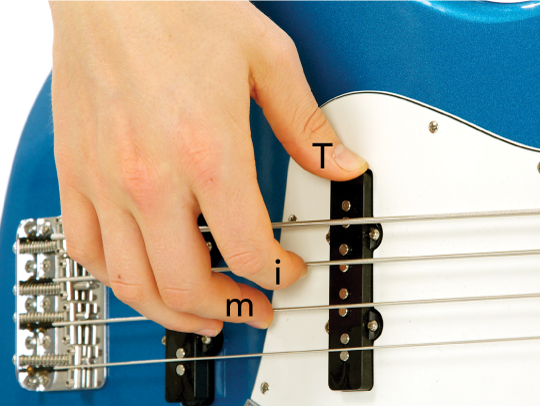 Bass Guitar Right Hand Finger Positions