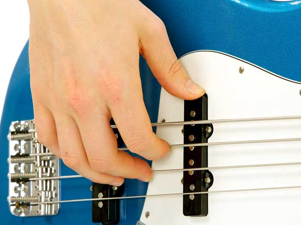 Bass Guitar Right Hand Rest Stroke pic. 1