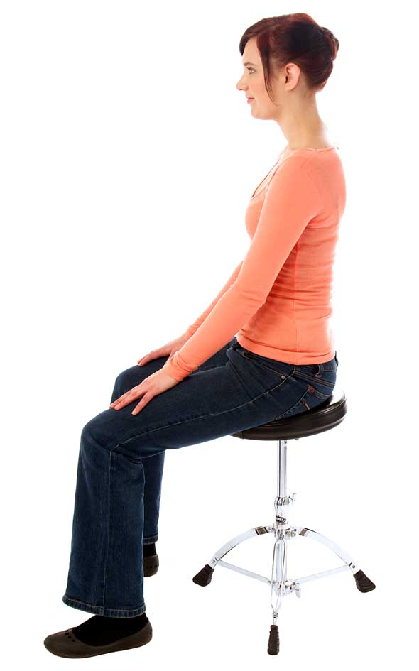 How to sit on a drum stool.