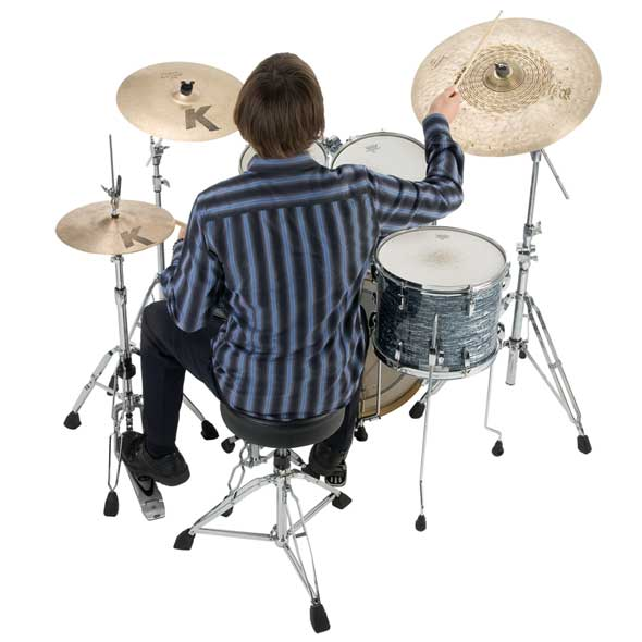 How to sit at a drum kit. Stool position.