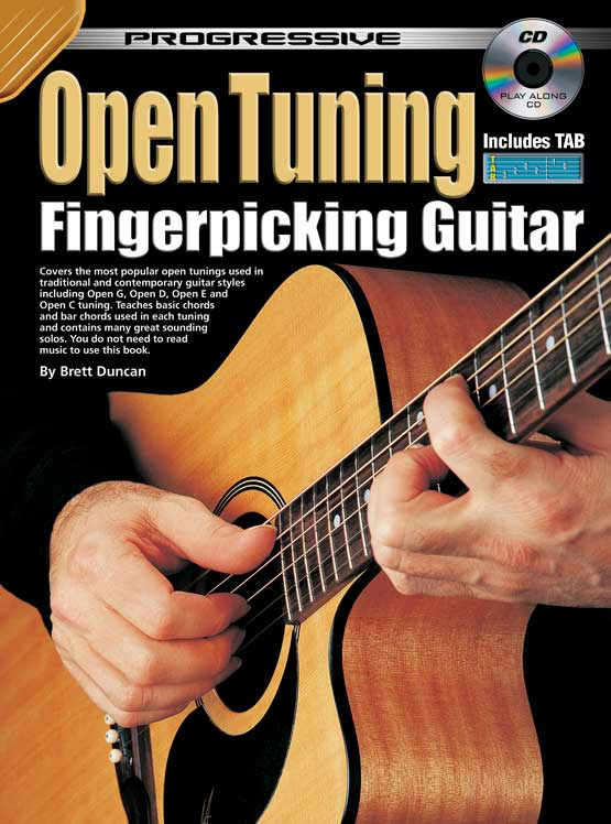 Fingerpicking guitar lick progressive