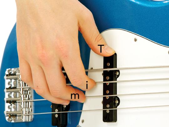 Bass Guitar Right Hand Finger Positions