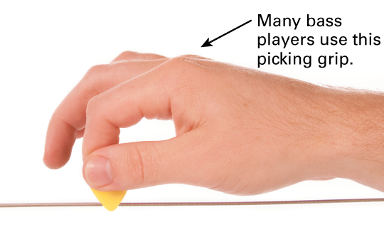 How to Hold a Bass Guitar Pick